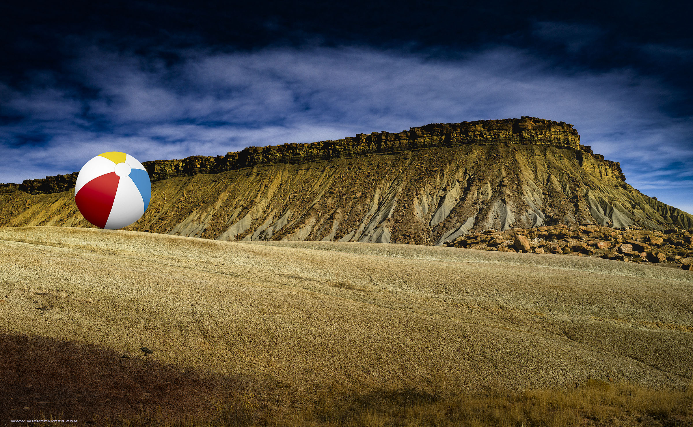 Beach Ball Waterpocket Fuck Trump Fold Capitol Reef Escalante Staircase Best Conceptual Fine art editorial Portrait Photographer Wick Beavers LA NYC LasVegas