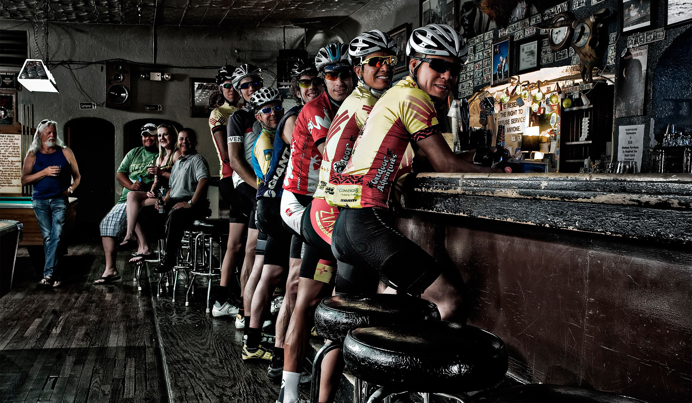 Biker Bar the Buffalo Bar Silver City Cyclists trade lycra for leathers  Wick Beavers Portrait