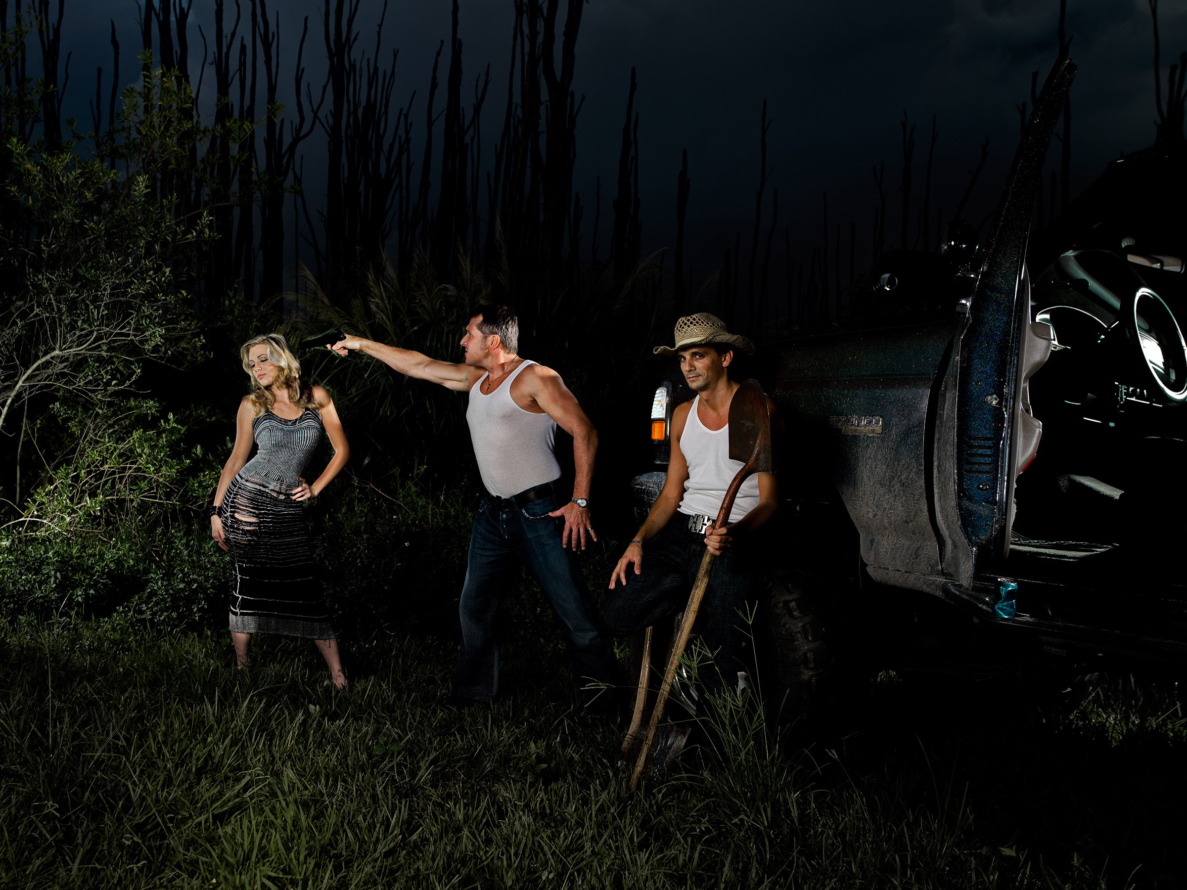 Murder in the Everglades dark drug night by Wick Beavers Photographer editorial conceptual Fine art Photography in NYC LA and Berlin